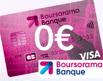 Boursorama Banque, la carte Welcome à 0€